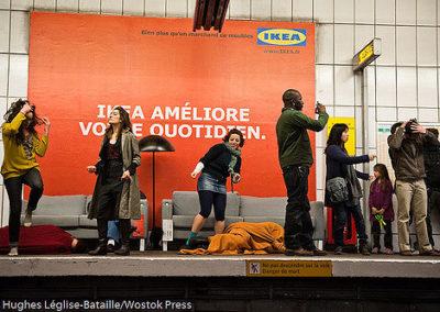 """""""ATTENTAT CHOREGRAPHIQUE"""" DANS LE METRO CONTRE IKEA"""